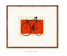 Bici sobre rojo