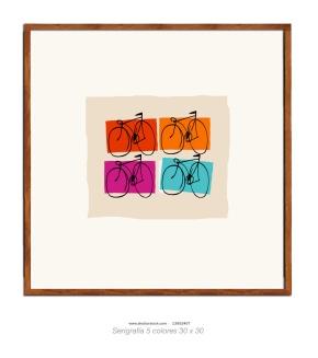 Cuatro bicis, cuatro colores