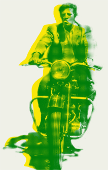 Belmondo en París (P/A serigrafía 2 colores)